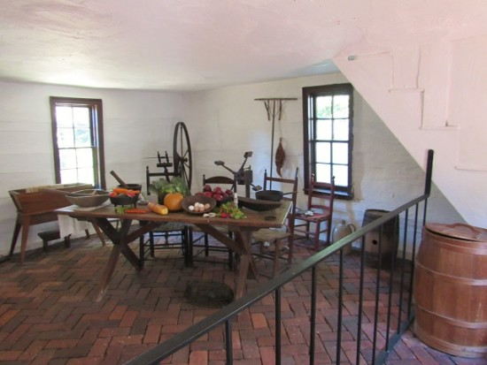The kitchen of the Mary Ball Washington House - this is an original kitchen.