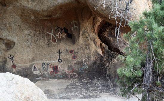 Petroglyphs near Barker Dam