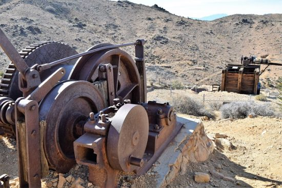 Some sort of gears overlooking the Lost Horse Mine.