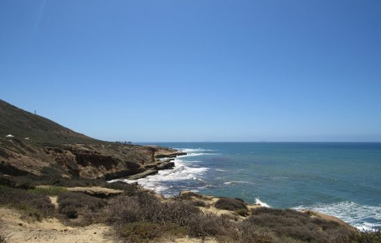 A view of the water at Cabrillo National Monument