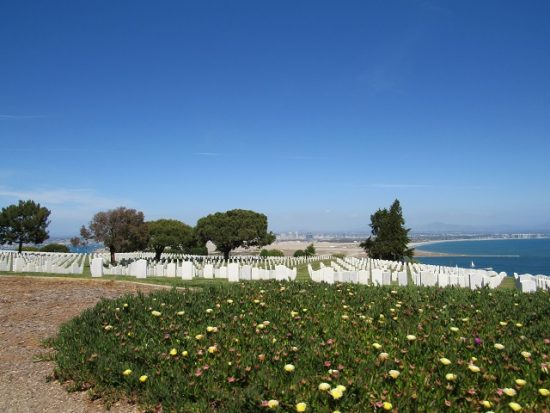 Rosecrans National Cemetery, overlooking San Diego Bay