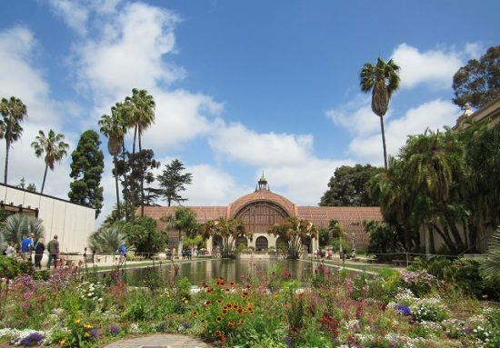 The Botanical Building, with the pond in front.