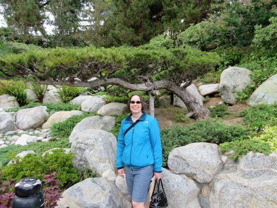 Me at the Japanese Garden at Balboa Park