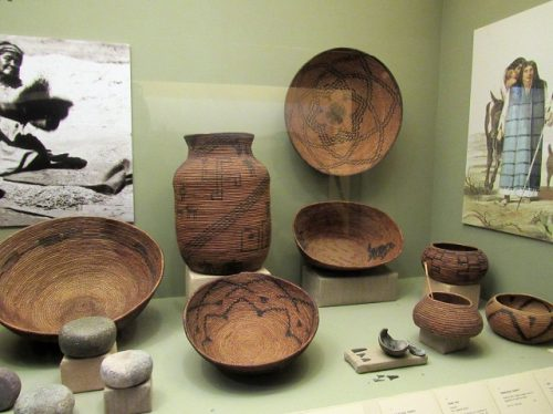 Some of the Native American artifacts in the Mission museum
