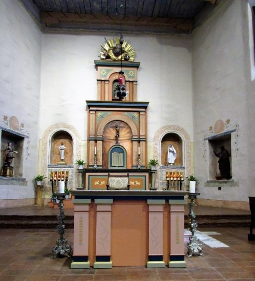 The altar in the Mission church