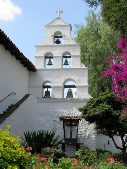 The Bell Tower at the San Diego Mission
