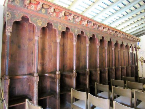 The choir stalls in La Capilla