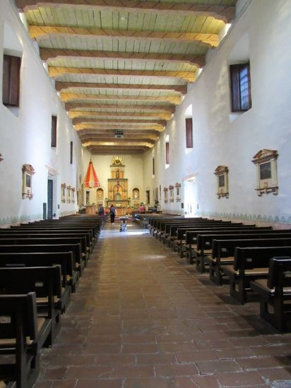 A view of the Mission church