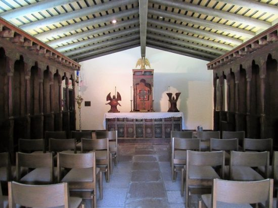 The altar of the small chapel, La Capilla, at the San Diego Mission