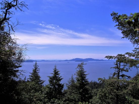 An amazing blue sky over Bellingham Bay
