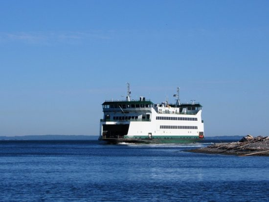 The ferry to the Olympic Peninsula