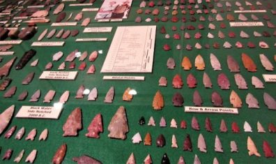 A collection of Arrowheads and Atlatl Points