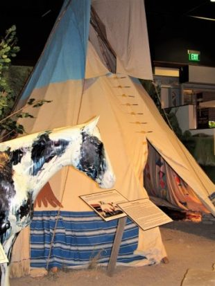 A replica Crow Tipi