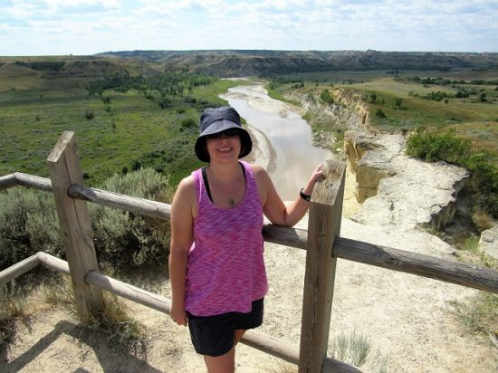 Me at the Wind Canyon viewpoint, overlooking the Little Missouri River