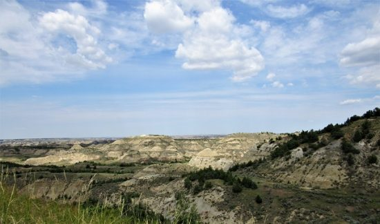 The view of the badlands from the Ridgeline Trail