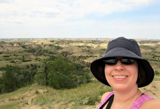 Me with the badlands in the background - Ridgeline Trail