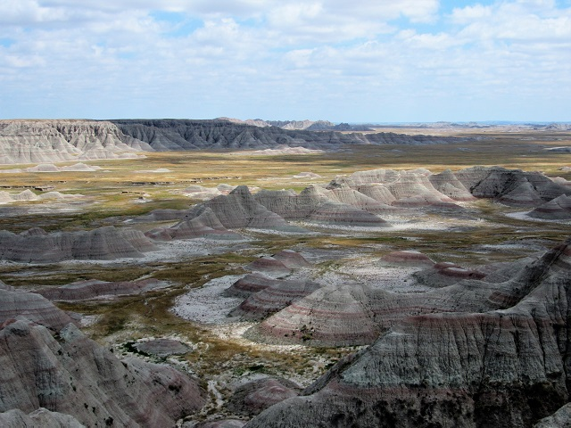 A stunning badlands view...