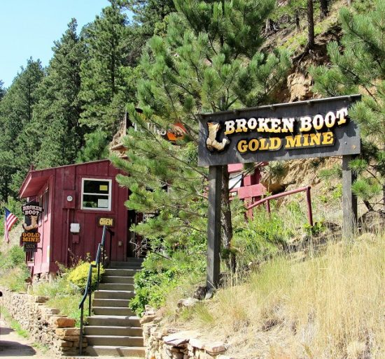 The entrance of the Broken Boot Mine
