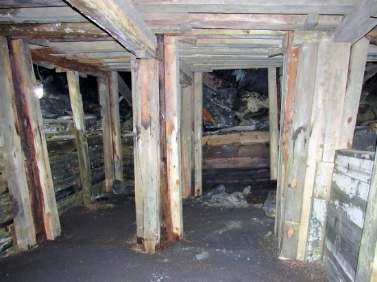 The inside of the Broken Boot Gold Mine
