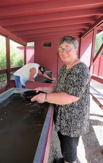 Mom panning for gold. She makes it look effortless...