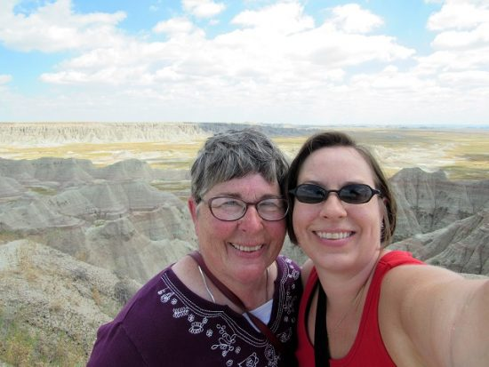Mom and me - Selfies overlooking the buttes