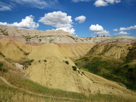 The Yellow Mounds at Badlands - yellow indeed!