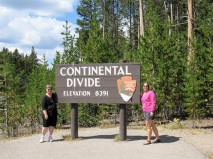 Mom and me at the Continental Divide