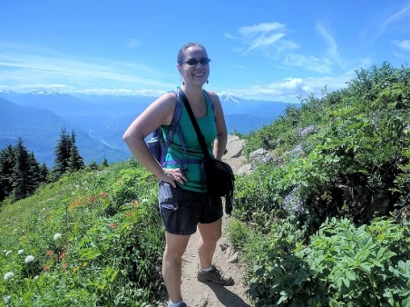 Me on the ridge with the Cascades in the background