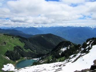 Sauk Lake with snow