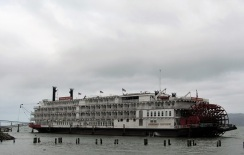 The American Empress, docked in Astoria