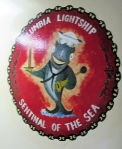 The logo aboard the Lightship Columbia