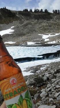 Me enjoying a beer at the lake