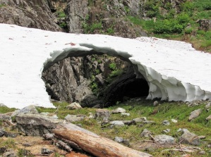 The last remnants of a snow cave