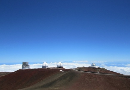 The scientific observatories - and snow!