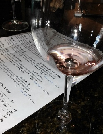 Rosé and tasting menu at the Vail Wine Shop