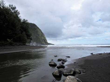 The beach in the other direction with the river tributary