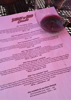 The Tasting Menu - delicious wines!