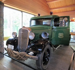 An antique Forest Service truck