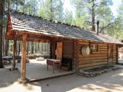 The exterior of the Homestead Cabin