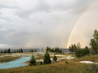 A double rainbow at West Thumb