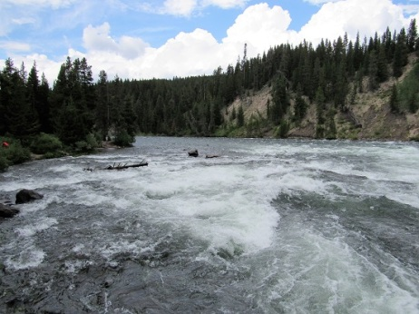 The Yellowstone River and LeHardy Rapids