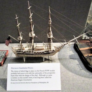 Bone Model - believed to be the US frigate Constitution