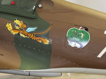 Tiger nose art