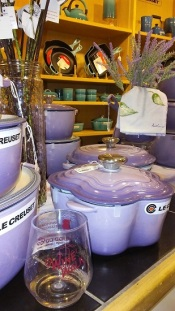 I LOVED this lavender flower-shaped Le Creuset!