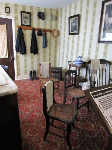 Bedroom where Lincoln died