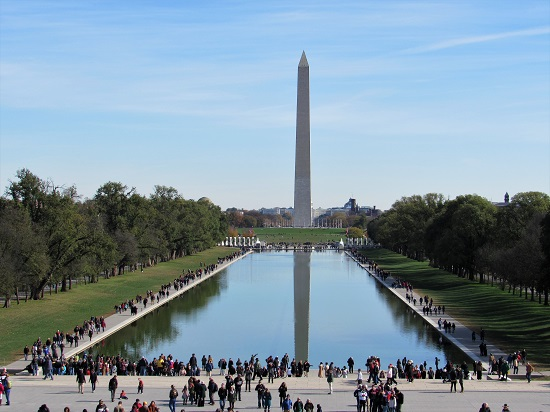 The Washington Monument with the Reflecting Pool