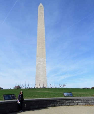 Me with the Washington Monument