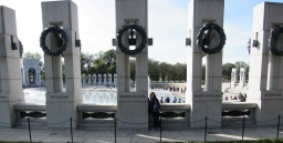 Me with the World War II Memorial