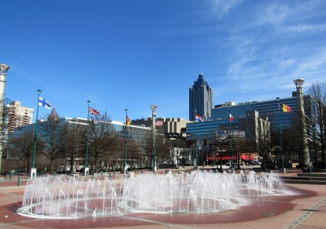The Fountain in Centennial Park