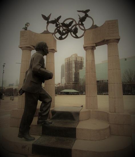 A Statue in Centennial Park